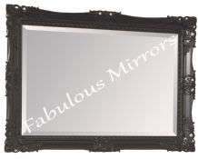 Large Black Decorative Ornate Fancy Mirror Stunning - Choice of size & Colour